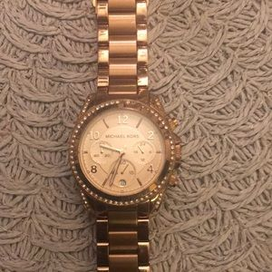 Rose Gold Michale kors watch
